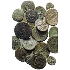 Sicily, lot of 20 Æ Greek coins, to be ...