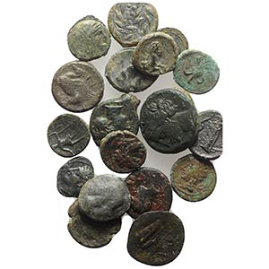 Lot of 20 AR and Æ Greek coins, mixed ...