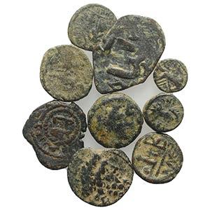 Mixed lot of 10 Greek, Roman and Byzantine ...