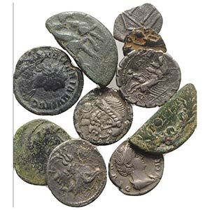 Mixed lot of 10 Greek and Roman AR and Æ ...