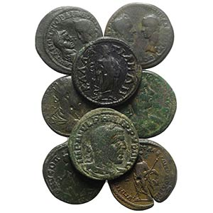Lot of 12 Roman Provincial Æ coins, to be ...
