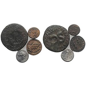 Lot of 4 Roman Republican and Roman Imperial ...