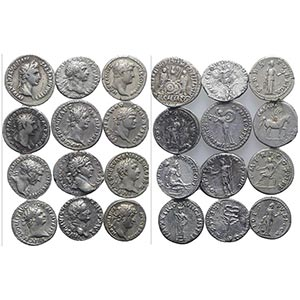 Lot of 12 Roman Imperial AR Denarii, ...