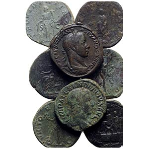Lot of 17 Roman Imperial Æ Sestertii, to be ...