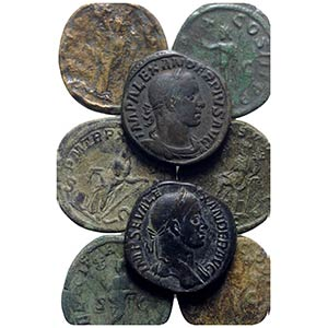 Lot of 10 Roman Imperial Æ Sestertii, to be ...