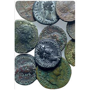 Lot of 10 Roman Imperial Æ Sestertii and ...