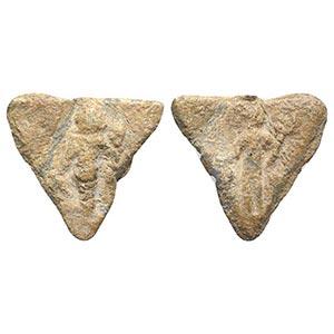 Roman Triangular PB Tessera, c. 1st century ...