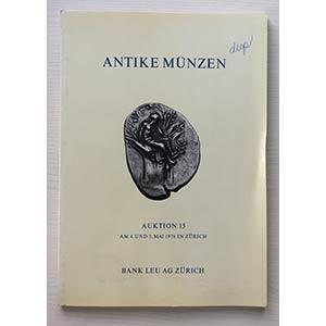 Bank Leu Auktion 15 Antike Munzen Griechen ...