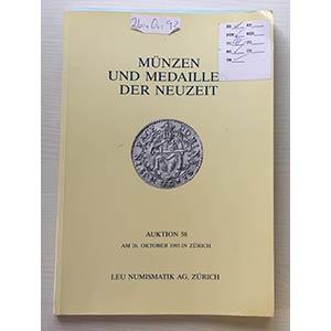 Bank Leu Auktion 58 Munzen und Medaillen ...