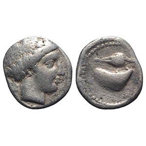 Southern Campania, Cumae, c. 420-385 BC. AR ...