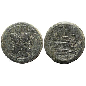 Anonymous, Rome, after 211 BC. Æ As (38mm, ...