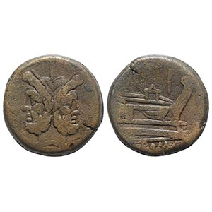 Anonymous, Rome, after 211 BC. Æ As (31mm, ...