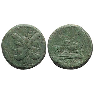 Anonymous, Rome, after 211 BC. Æ As (34mm, ...