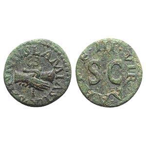 Augustus (27 BC-AD 14). Æ Quadrans (15mm, ...