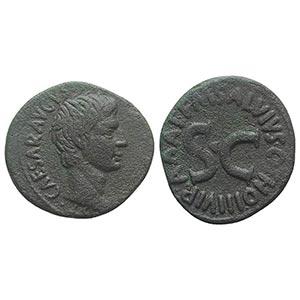 Augustus (27 BC-AD 14). Æ As (28mm, 10.13g, ...