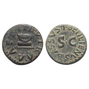 Augustus (27 BC-14 AD). Æ Quadrans (16mm, ...