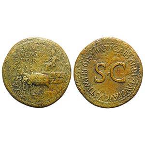 Divus Augustus (died AD 14). Æ Sestertius ...