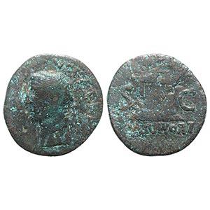 Divus Augustus (died AD 14). Æ As (28.5mm, ...