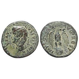 Divus Augustus (died AD 14). Æ As (30mm, ...