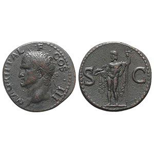 Agrippa (died 12 BC). Æ As (28mm, 11.64g, ...