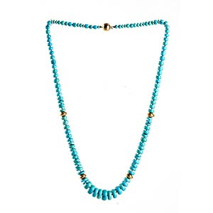 Turquoise necklace   strand of gradueted ...