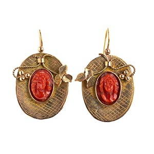 Sciacca coral earrings - Trapani 19th ...