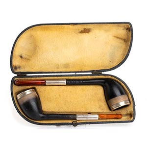 Pair of Meerschaum pipe - England late 19th ...