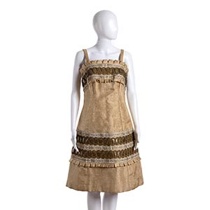 STRAW DRESS Late 50s Natural color ...
