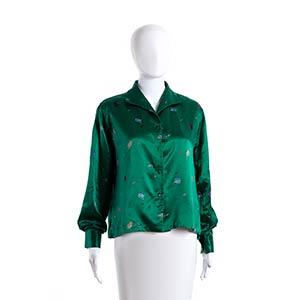 EMILIO PUCCI GREEN SATIN SHIRT 1954/1955  A ...