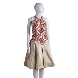 ANNA MARIA FANUCCHI MIKADO DRESS 60s  Ivory ...
