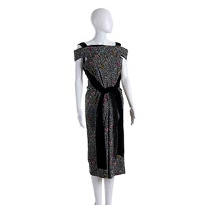 ANNA MARIA FANUCCHI VELVET AND COTTON DRESS ...