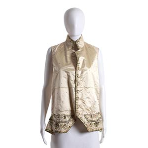 SILK AND LINEN VEST Late 18th Century  ...