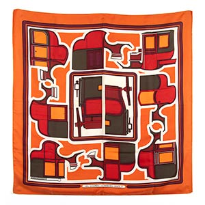HERMES, LES COUPESSILK SCARF 1971   ...