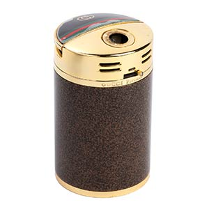 GUCCI GOLD TABLE LIGHTER 70s  Polished brown ...