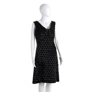 ANNA MARIA FANUCCHI  BEADS DRESS 60s  Black ...