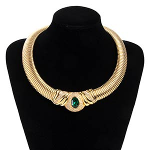 GIVENCHY GOLD METAL NECKLACELate 80s  Gold ...