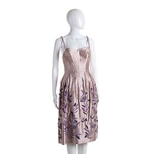 ANNA MARIA FANUCCHI  SILK SATIN DRESS 60s   ...