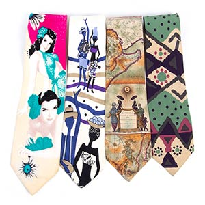 BYBLOS LOT OF 4 TIES Late 80s  A lot of 4 ...