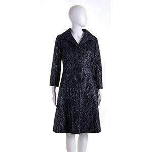 ANNA MARIA FANUCCHI  FABRIC COAT 60s  Dark ...