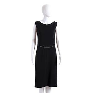 MIRSA  WOOL DRESS 60s  Black wool dress, ...