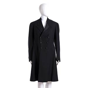 BLACK WOOL FROCK COAT Late 19th Century A ...