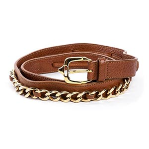 BURBERRY  LEATHER BELT 2010  Brown leather, ...