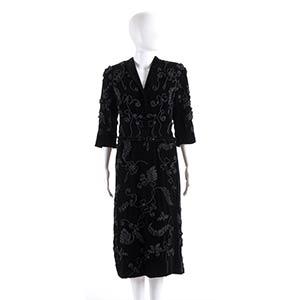 GABRIELLA SPORT  VELVET DRESS 40s  Black ...