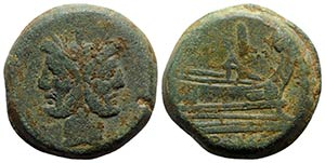 Anonymous, Rome, after 211 BC. Æ As (35mm, ...