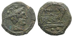 Anonymous, Sardinia, after 211 BC. Æ ...
