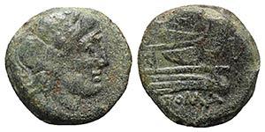 Anonymous, Luceria, c. 214-212 BC. Æ Semis ...