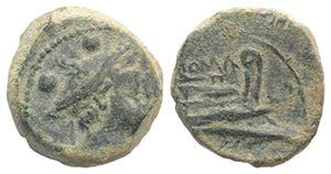 Anonymous, Canusium, 209-208 BC. Æ Sextans ...