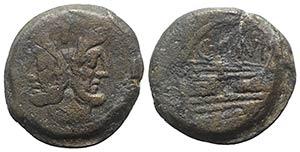 C. Junius C.f., Rome, 149 BC. Æ As (32mm, ...
