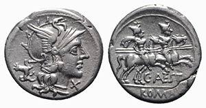 C. Antestius, Rome, 146 BC. AR Denarius ...