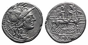 P. Aelius Paetus, Rome, 138 BC. AR Denarius ...